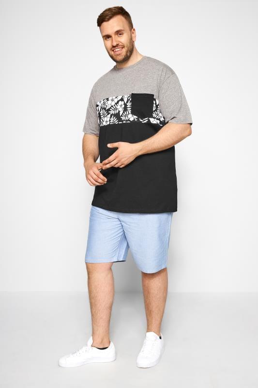 LOYALTY & FAITH Grey & Black Tropical Print T-Shirt