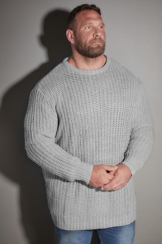 LOYALTY & FAITH Grey Chunky Knit Jumper