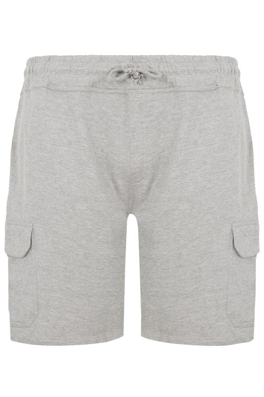 Plus-Größen Jogger Shorts LOYALTY & FAITH Grey Fleetwood Short
