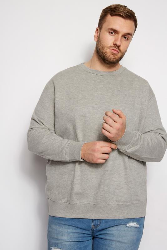 Große Größen Sweatshirts LOYALTY & FAITH Grey Marl Morecambe Sweatshirt