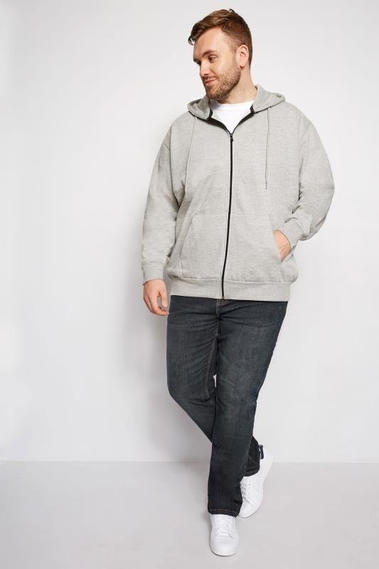 LOYALTY & FAITH Sweatshirt mit Reißverschluss - Grau