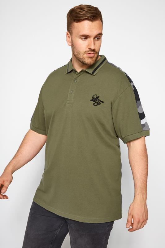 LOYALTY & FAITH Khaki Camo Polo Shirt