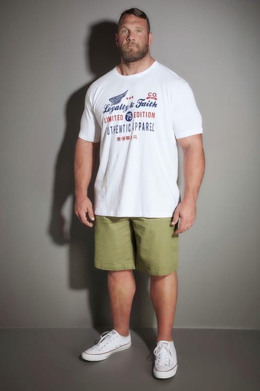 LOYALTY & FAITH Khaki Utility Shorts With Canvas Belt
