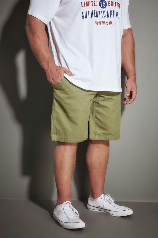 Plus Size Cargo Shorts LOYALTY & FAITH Khaki Utility Shorts With Canvas Belt