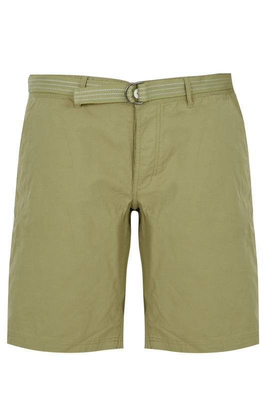 LOYALTY & FAITH Khaki Utility Shorts With Canvas Belt