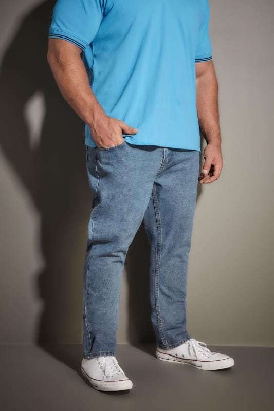 LOYALTY & FAITH Light Blue Stonewash Denim Straight Leg Jeans