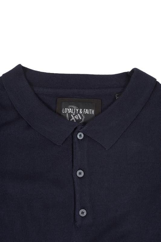 LOYALTY & FAITH Navy Fine Knit Jumper
