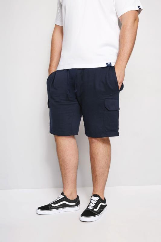 Plus-Größen Jogger Shorts LOYALTY & FAITH Navy Fleetwood Short