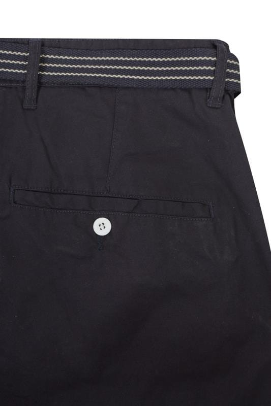 LOYALTY & FAITH Navy Utility Shorts With Canvas Belt