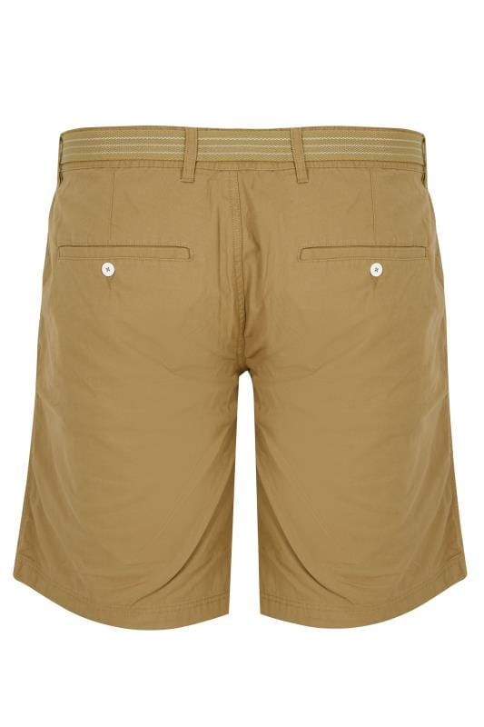 LOYALTY & FAITH Tan Utility Shorts With Canvas Belt