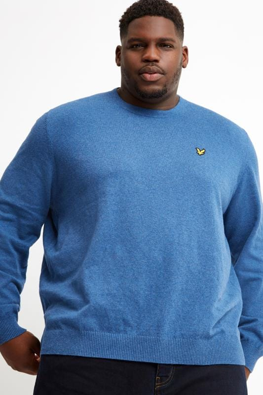 Men's Jumpers LYLE & SCOTT Blue Crew Neck Jumper