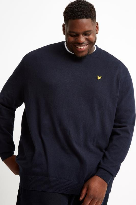 Jumpers LYLE & SCOTT Navy Crew Neck Jumper 202035