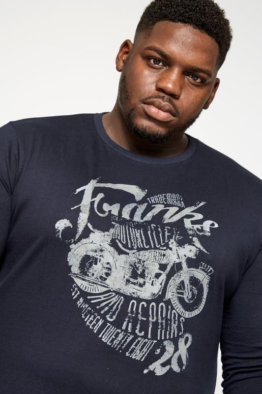 BadRhino Navy Motorcycle Print Long Sleeve T-shirt_fb7a.jpg