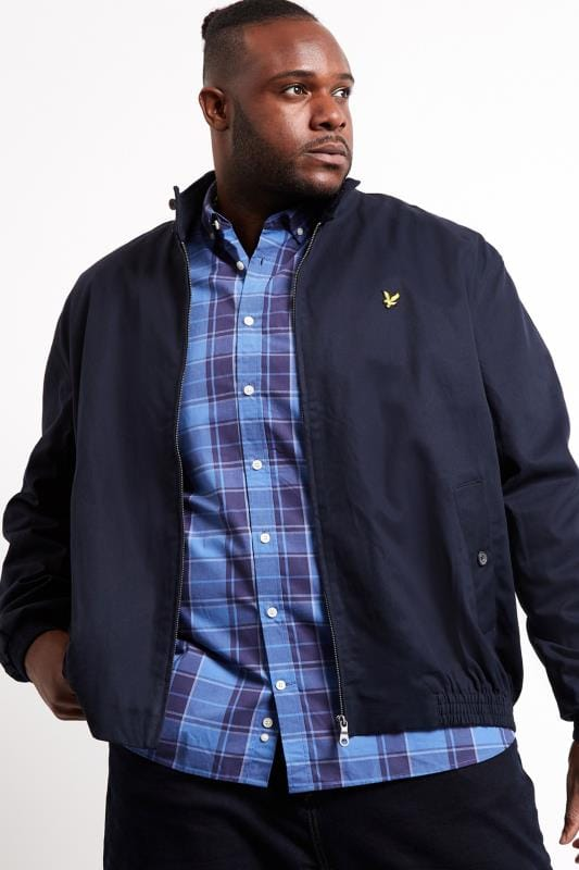 Jackets dla puszystych LYLE & SCOTT Navy Harrington Jacket