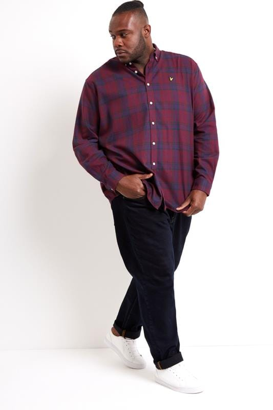 LYLE & SCOTT Burgundy Check Flannel Shirt