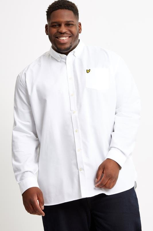Plus Size Smart Shirts LYLE & SCOTT White Oxford Shirt
