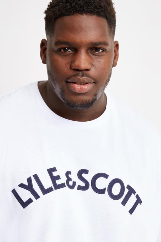 LYLE & SCOTT White Logo Crew Neck T-Shirt