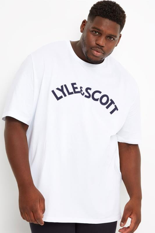 LYLE & SCOTT White Logo Crew Neck T-Shirt