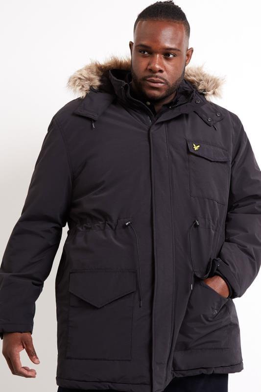Plus-Größen Coats LYLE & SCOTT Black Parka Coat