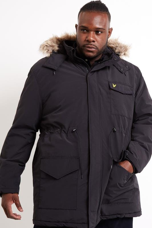 LYLE & SCOTT Black Parka Coat