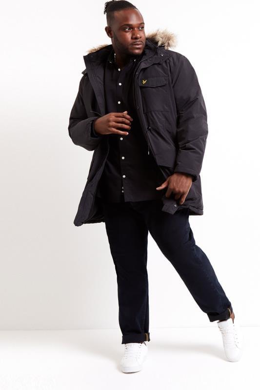 LYLE & SCOTT Black Parka Coat