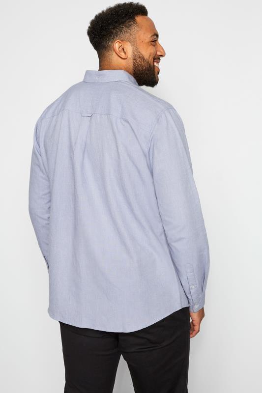 BadRhino Light Blue Long Sleeved Oxford Shirt