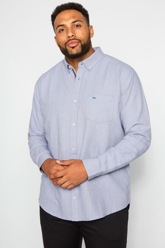 BadRhino Light Blue Long Sleeved Oxford Shirt