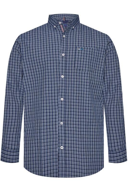 BadRhino Blue Small Check Long Sleeved Shirt_d7d5.jpg