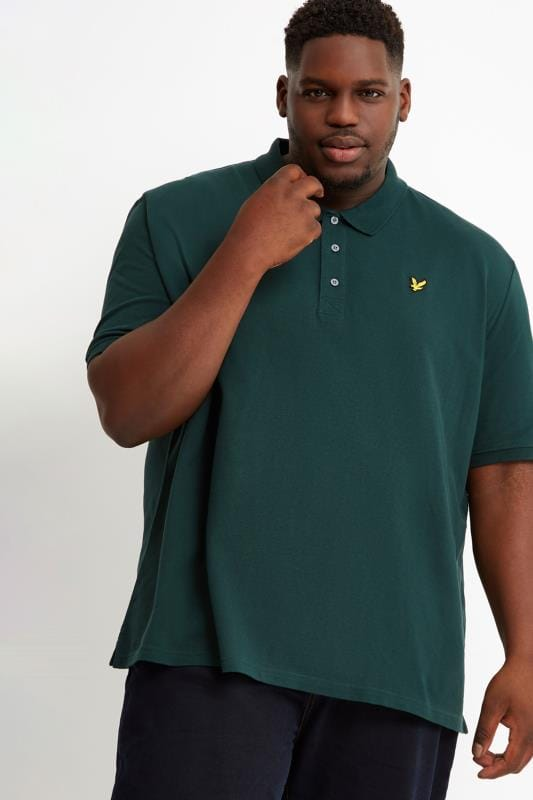 Plus Size Polo Shirts LYLE & SCOTT Green Polo Shirt