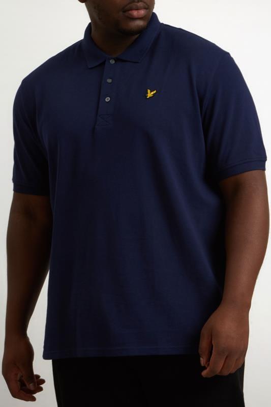 Plus Size Polo Shirts LYLE & SCOTT Navy Polo Shirt