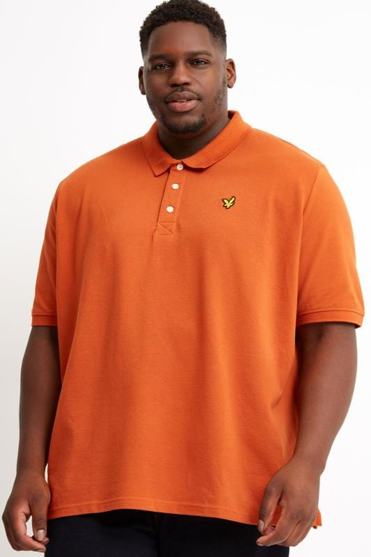 Polo Shirts Tallas Grandes LYLE & SCOTT Orange Polo Shirt