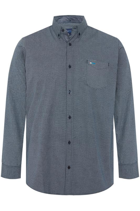 BadRhino Navy Printed Button Down Shirt