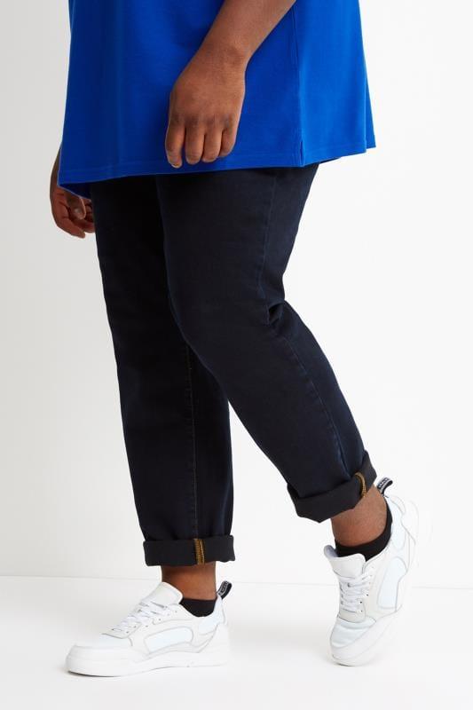 Großen Größen Straight LYLE & SCOTT Indigo Blue Straight Leg Jeans