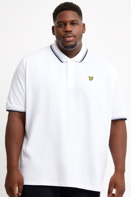 Plus Size Polo Shirts LYLE & SCOTT White Tipped Polo Shirt