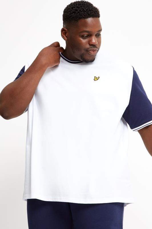 Plus Size T-Shirts LYLE & SCOTT White Tipped T-Shirt