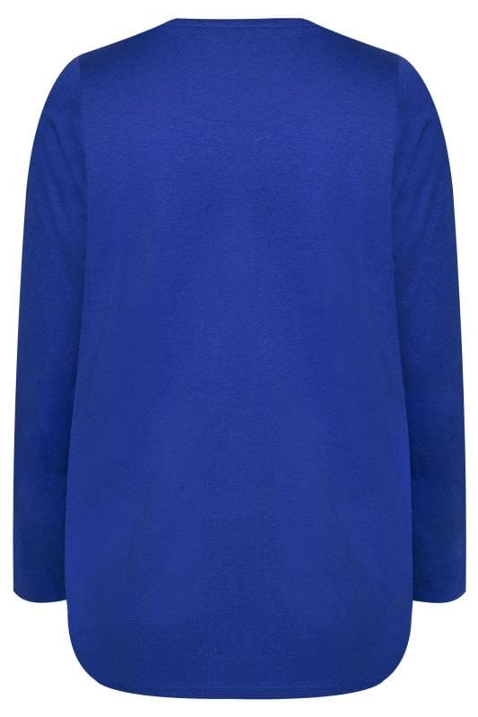 Cobalt V-Neck Long Sleeve Top