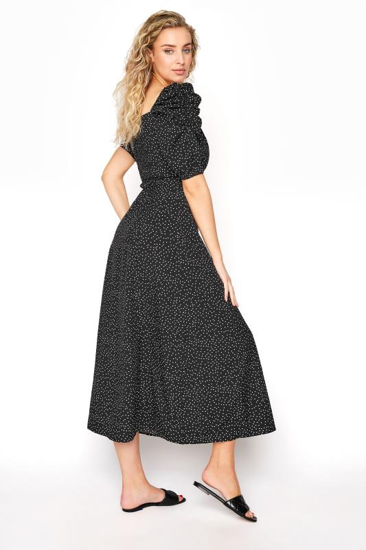 LTS Black Polka Dot Puff Sleeve Midaxi Dress_6f87.jpg