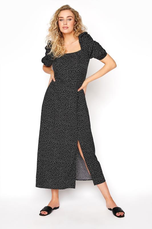 LTS Black Polka Dot Puff Sleeve Midaxi Dress_a734.jpg
