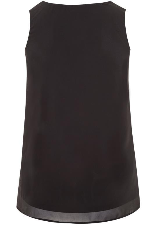 LUXE Black Sequin and Bead Embellished Top