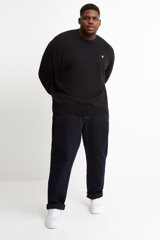 LYLE & SCOTT Black Crew Neck Jumper