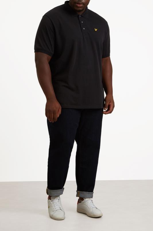 LYLE & SCOTT Black Polo Shirt