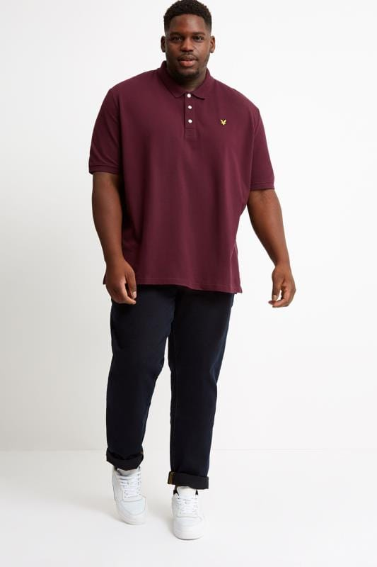 LYLE & SCOTT Burgundy Polo Shirt