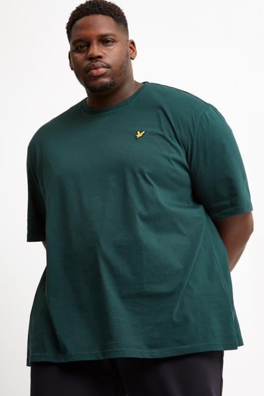 Große Größen T-Shirts LYLE & SCOTT Jade Green Crew Neck T-Shirt