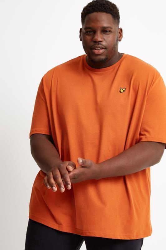 Plus Size T-Shirts LYLE & SCOTT Orange Crew Neck T-Shirt