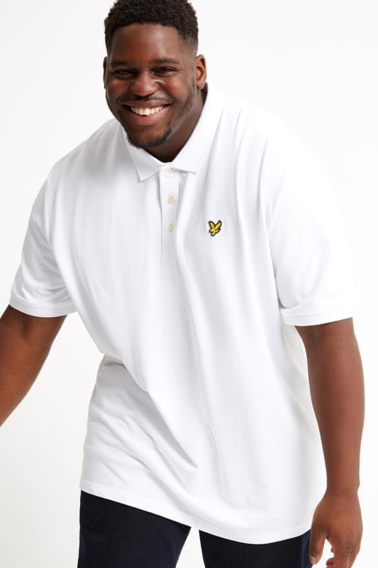 Polos Grande Taille LYLE & SCOTT White Polo Shirt