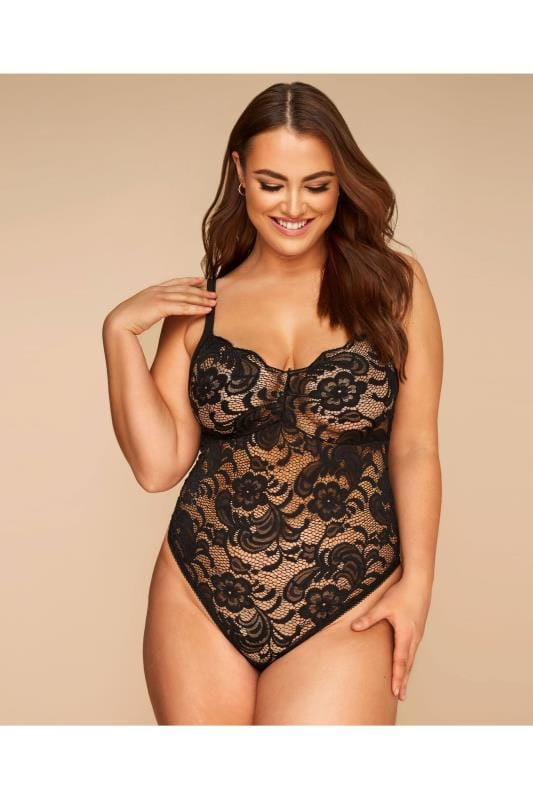 Plus Size Sexy Lingerie LIMITED COLLECTION Black Lace Body