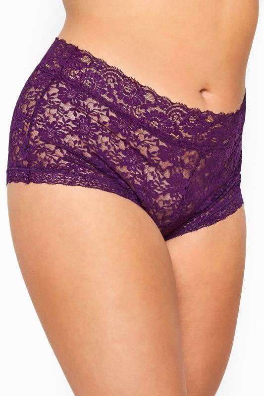 Yours Clothing Women/'s Plus Size Lace Briefs