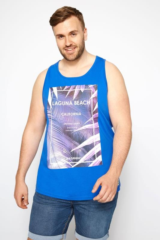 T-Shirts BadRhino Blue Laguna Beach Muscle Vest 201033