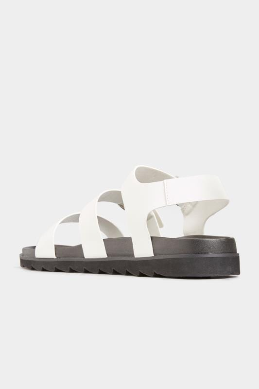 LIMITED COLLECTION White Footbed Buckle Sandals In Extra Wide Fit
