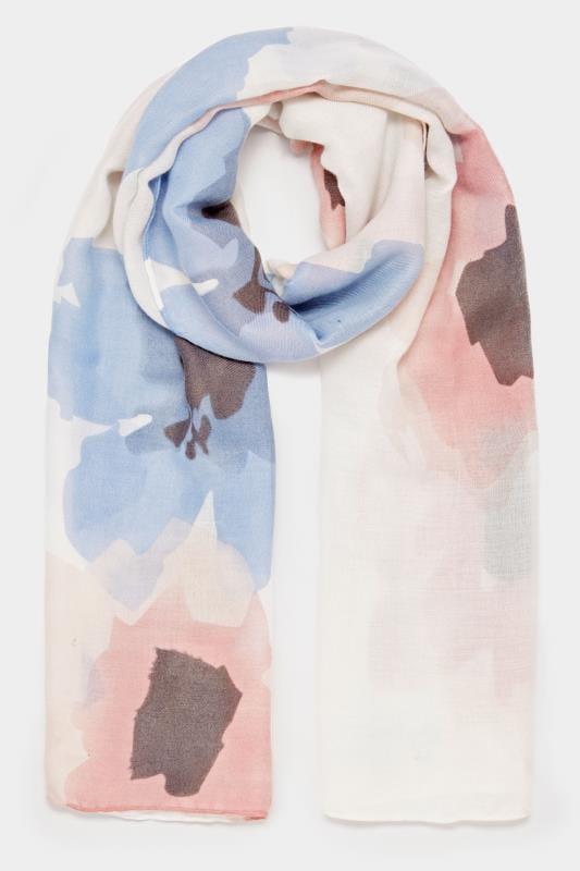 Pink & Blue Floral Scarf